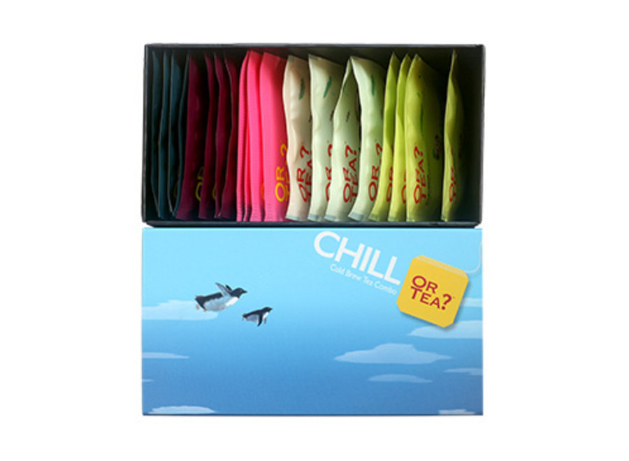 CHILL Box – Cold Brewed Tea Combo (44g / 20 sachets in 5 different flavours)