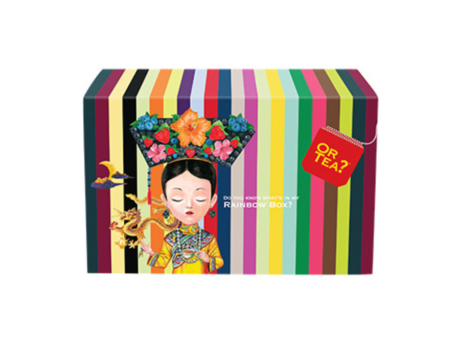 "Rainbow Box  - Tasting Combo ""Or Tea?™ 彩虹盒 (包含20款完整口味的品嚐包) 歐洲進口"""