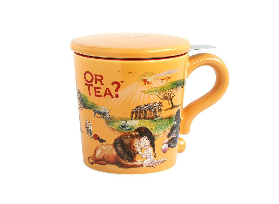 Dusk Mug  - Ceramic Mug with Stainless Steel Infuser  ( Or Tea?™ 黃昏彩瓷杯 )