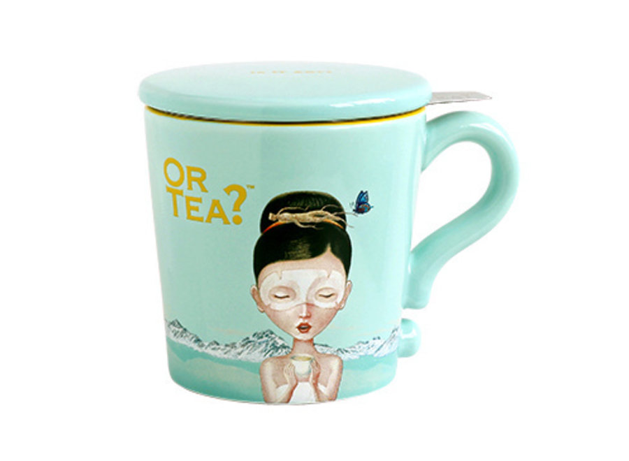 Turquoise Mug  (Or Tea?™ 水藍彩瓷杯)