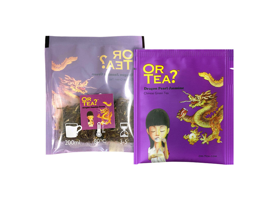 "Dragon Jasmine Green  (10 sachets) (30g)  ""Or Tea?™ 有機龍皇香片10茶包裝 (茉莉花茶) 歐洲進口"""