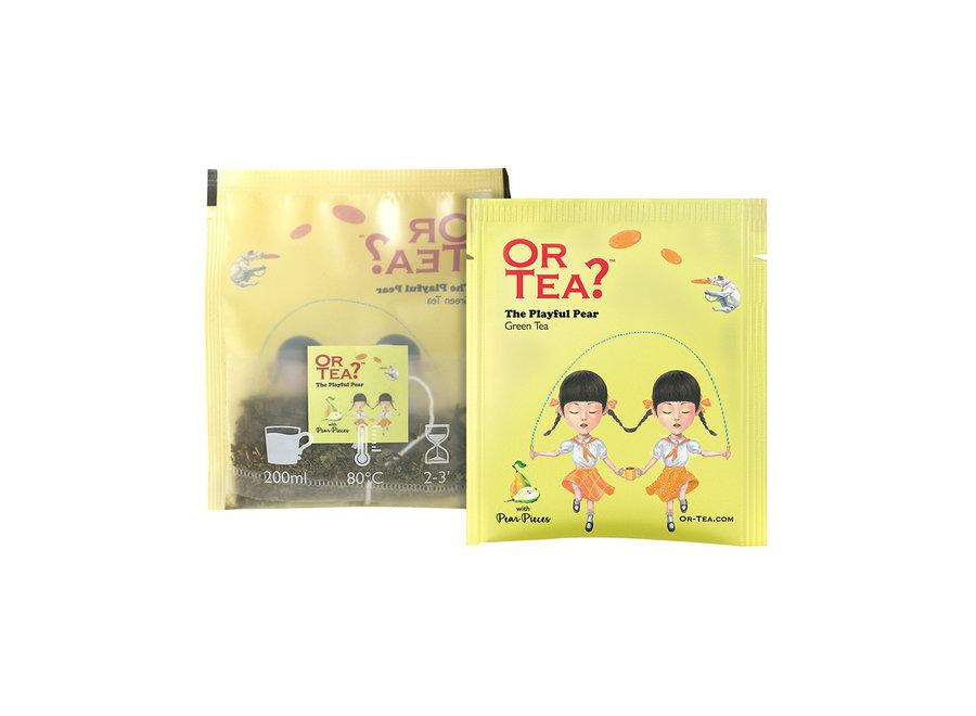 """The Playful Pear - Green Tea with Pear (20g)  """"Or Tea?™ 有機梨不開10茶包裝 (梨味綠茶) 歐洲進口"""" BBD: 2021-12-28"""