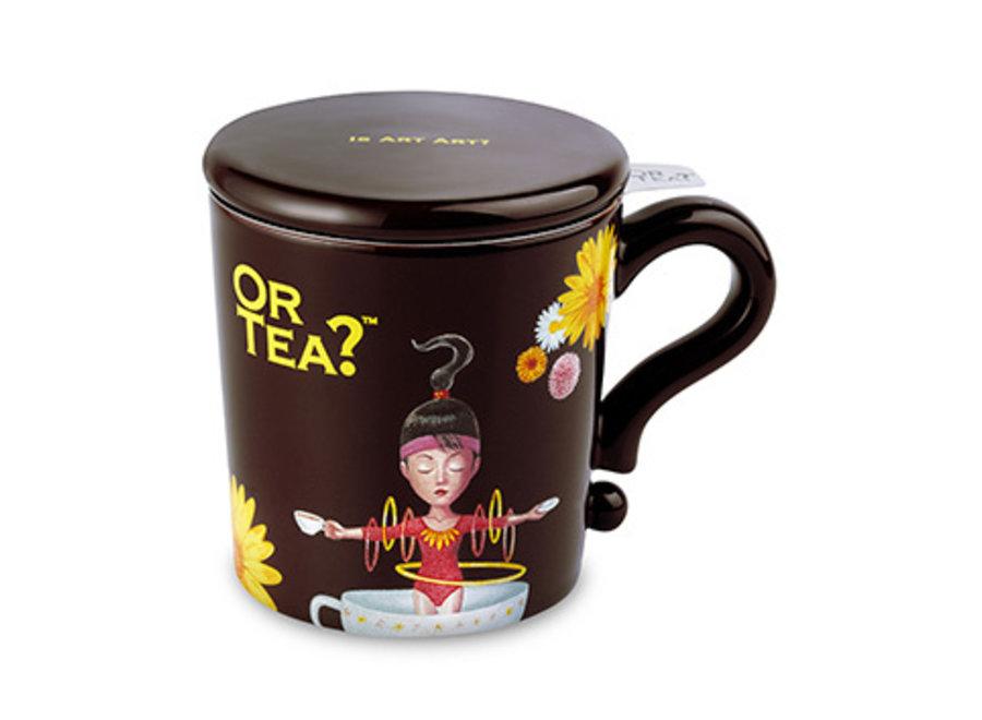 Chocolate Mug- Ceramic Mug with Stainless Steel Infuser