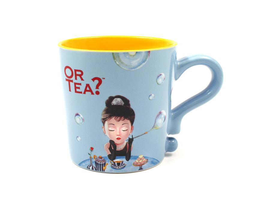 Baby Blue  Mug- Ceramic Mug with Stainless Steel Infuser