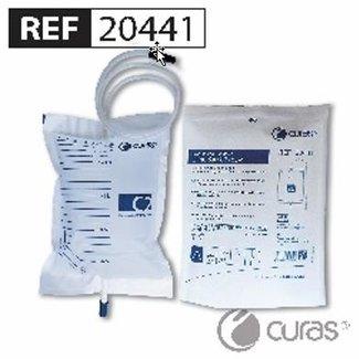 Curas Curas C2 standaard urinezak 2,0 liter, 90cm, met NRV klep, trekkraan, steriel (250 stuks)