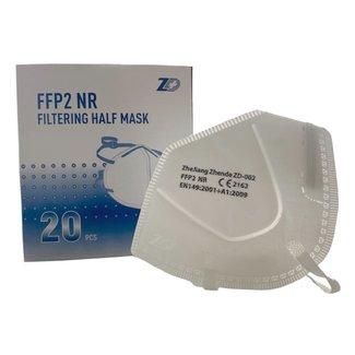 Ademhalingsmaskers FFP2 zonder ventiel met headstrap (20 stuks)