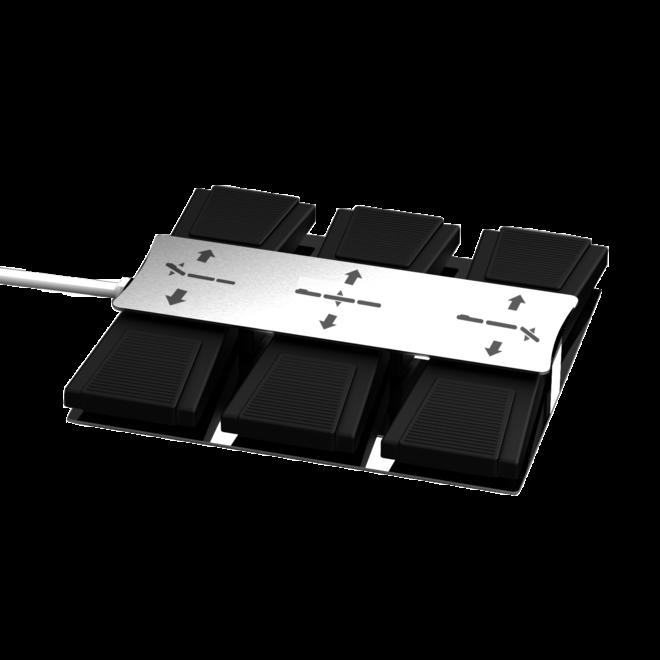 Voetbediening zilver 3 motoren 8 pins