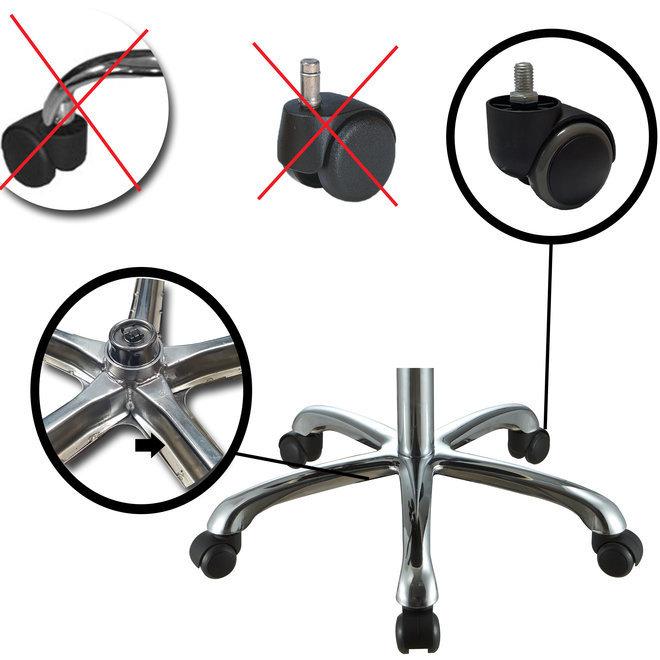 Chrome base for stool Large
