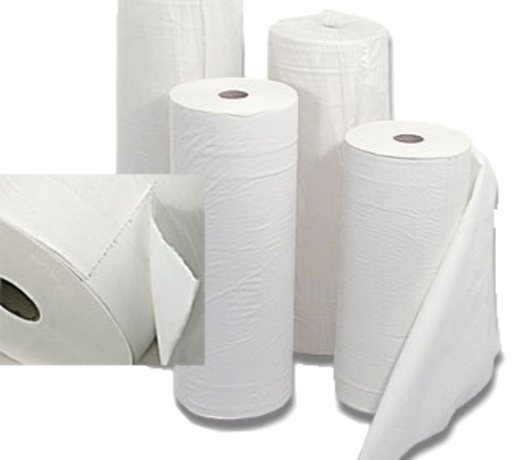 Paper rolls for the treatment table