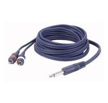 DAP FL33 - mono Jack > 2 RCA Male L/R 3 m