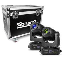 BeamZ Set van 2 IGNITE180 spot LED Movingheads in Flightcase