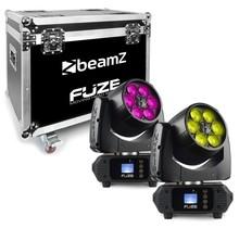 BeamZ FUZE610Z Wash set van 2 movingheads in flightcase