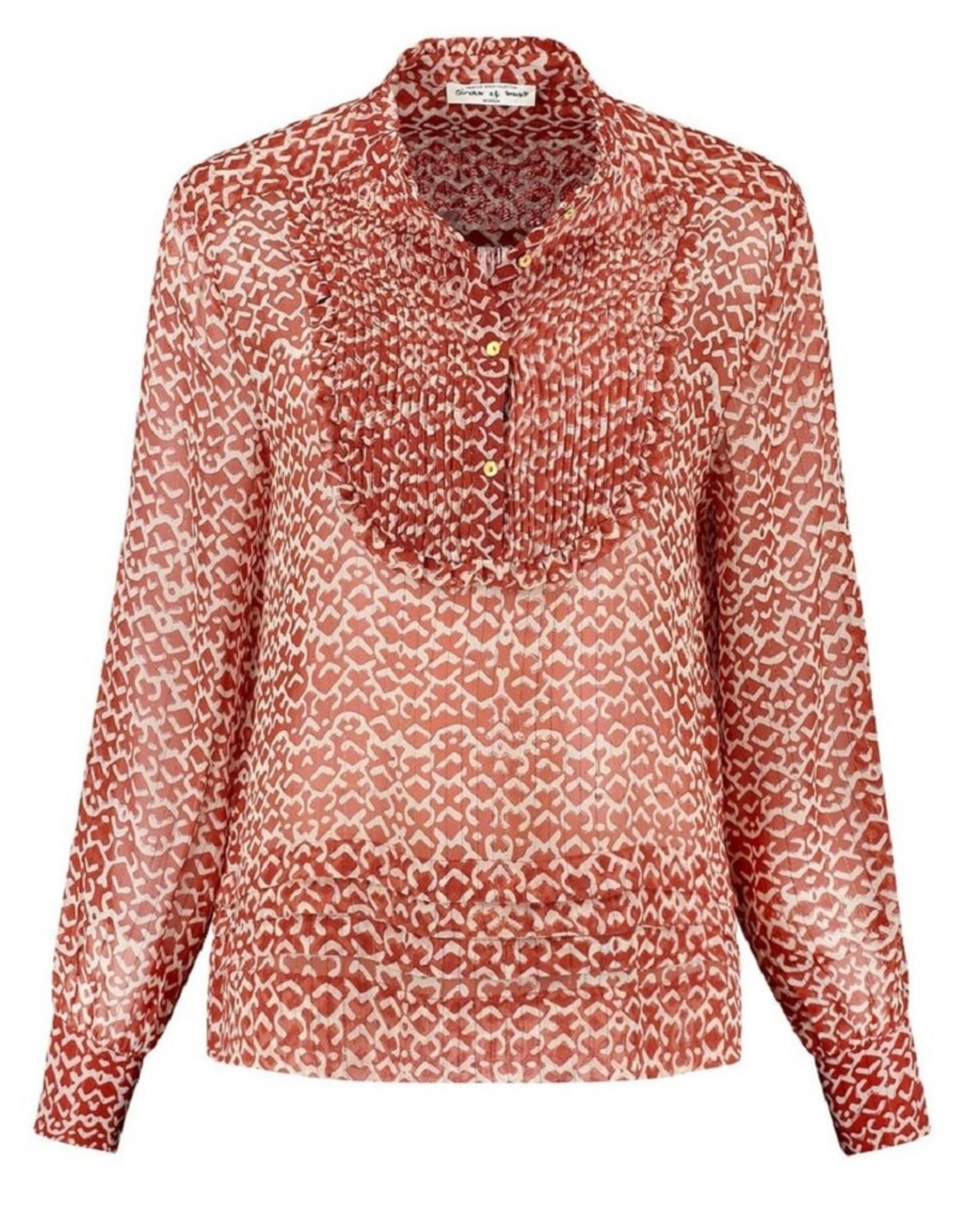 Circle of Trust Circle of Trust Aiden blouse Saffron Tile