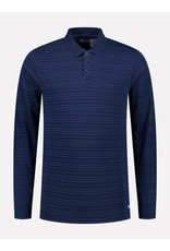 Dstrezzed Dstrezzed polo long sleeves indigo stripe