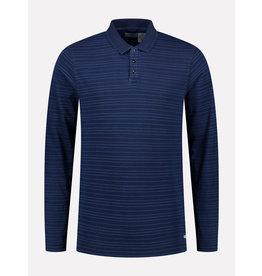 Dstrezzed Dstrezzed polo long sleeves indigo stripe