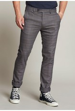 Dstrezzed Fancy chino pant with turn up Piede de Poule brushed Poly viscose - Rosy Brown