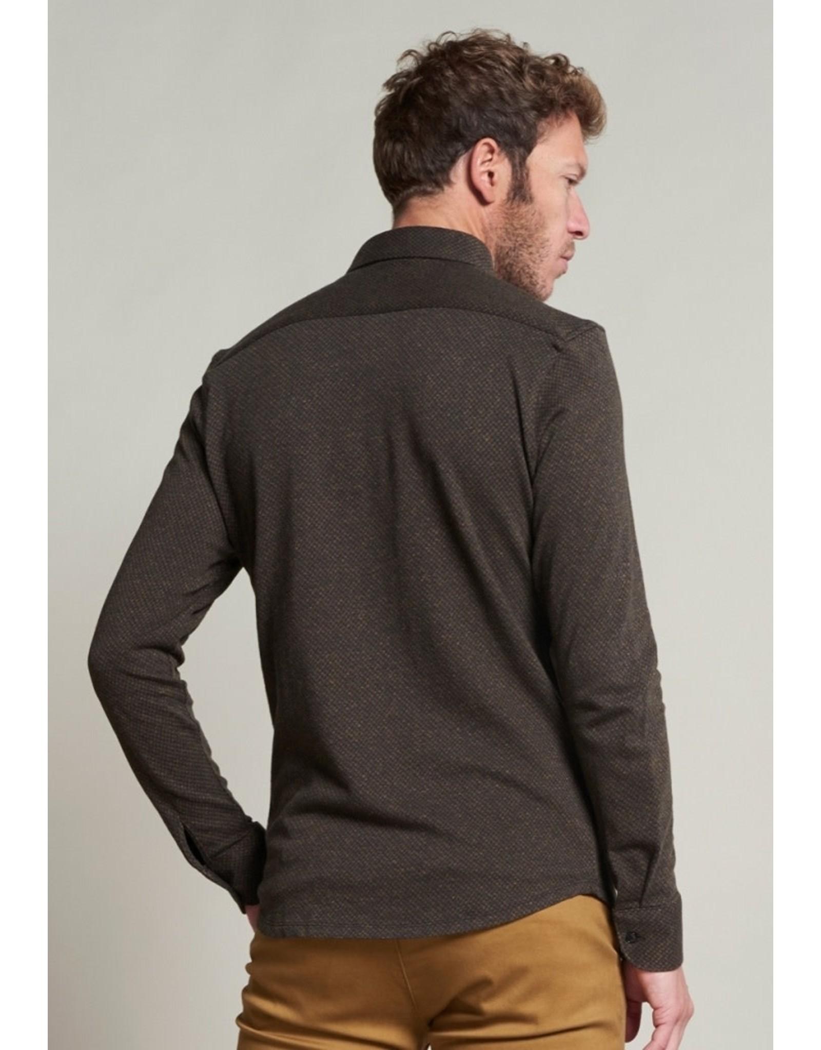 Dstrezzed Dstrezzed knitted Triangle jaquard shirt Musterd