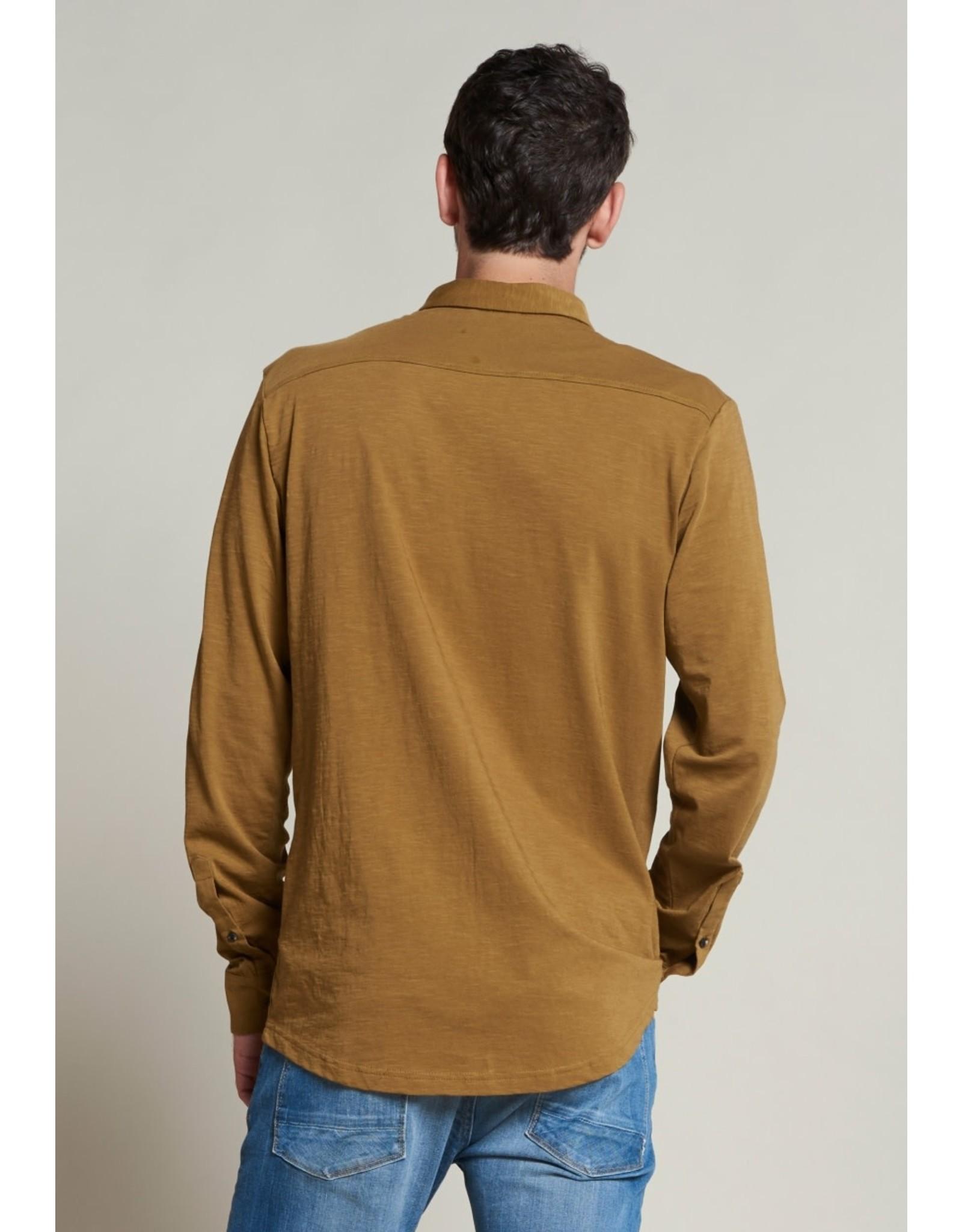 Dstrezzed Dstrezzed shirt slub jersey Mustard