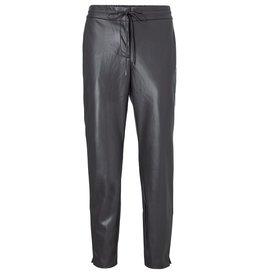 Yaya YAYA Faux leather relax fit trousers Phanton brown