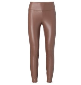 Yaya YAYA Stretch faux leather legging cacao brown