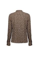 Geisha Geisha Leopard blouse Taupe combi