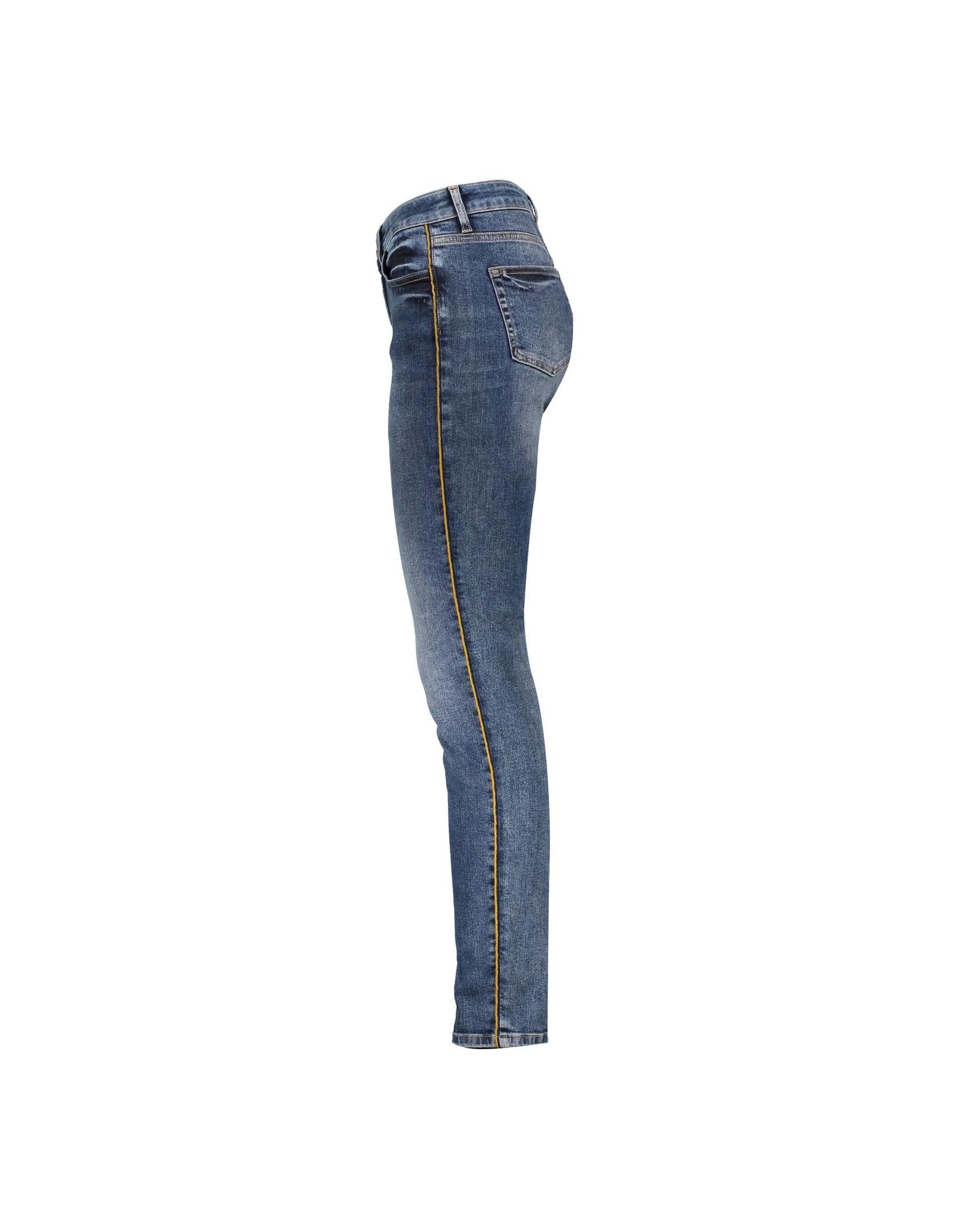 Geisha Geisha Jeans with Piping Mid Blue