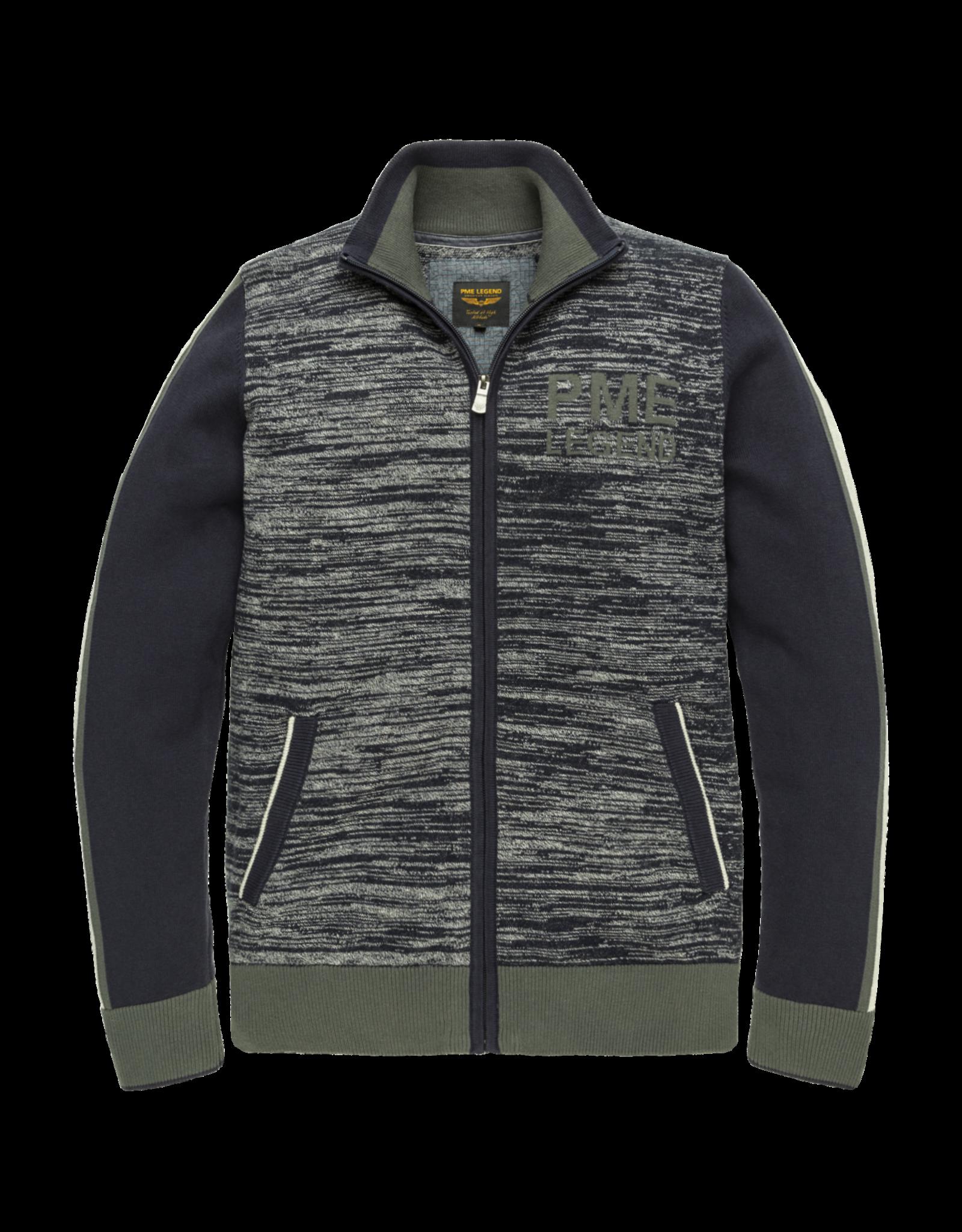 Pme Legend PME Legend zip jacket cotton knit Night Sky