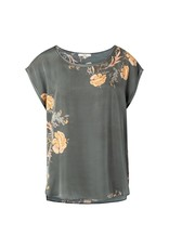 Yaya YAYA Round neck T-shirt with print Green