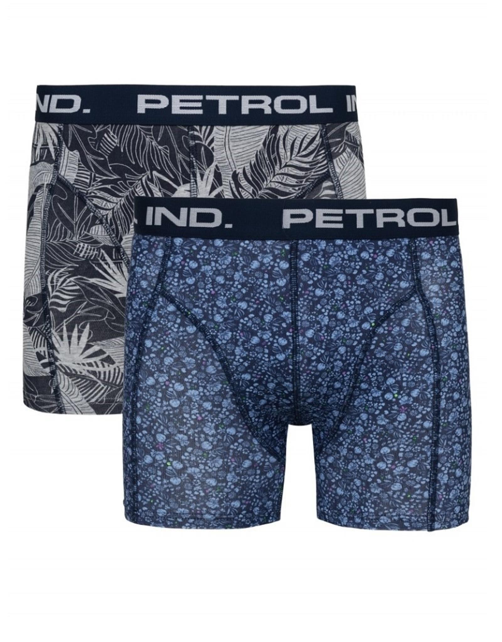 Petrol Ind. Petrol Boxershort 2-PACK Blauw BXR201