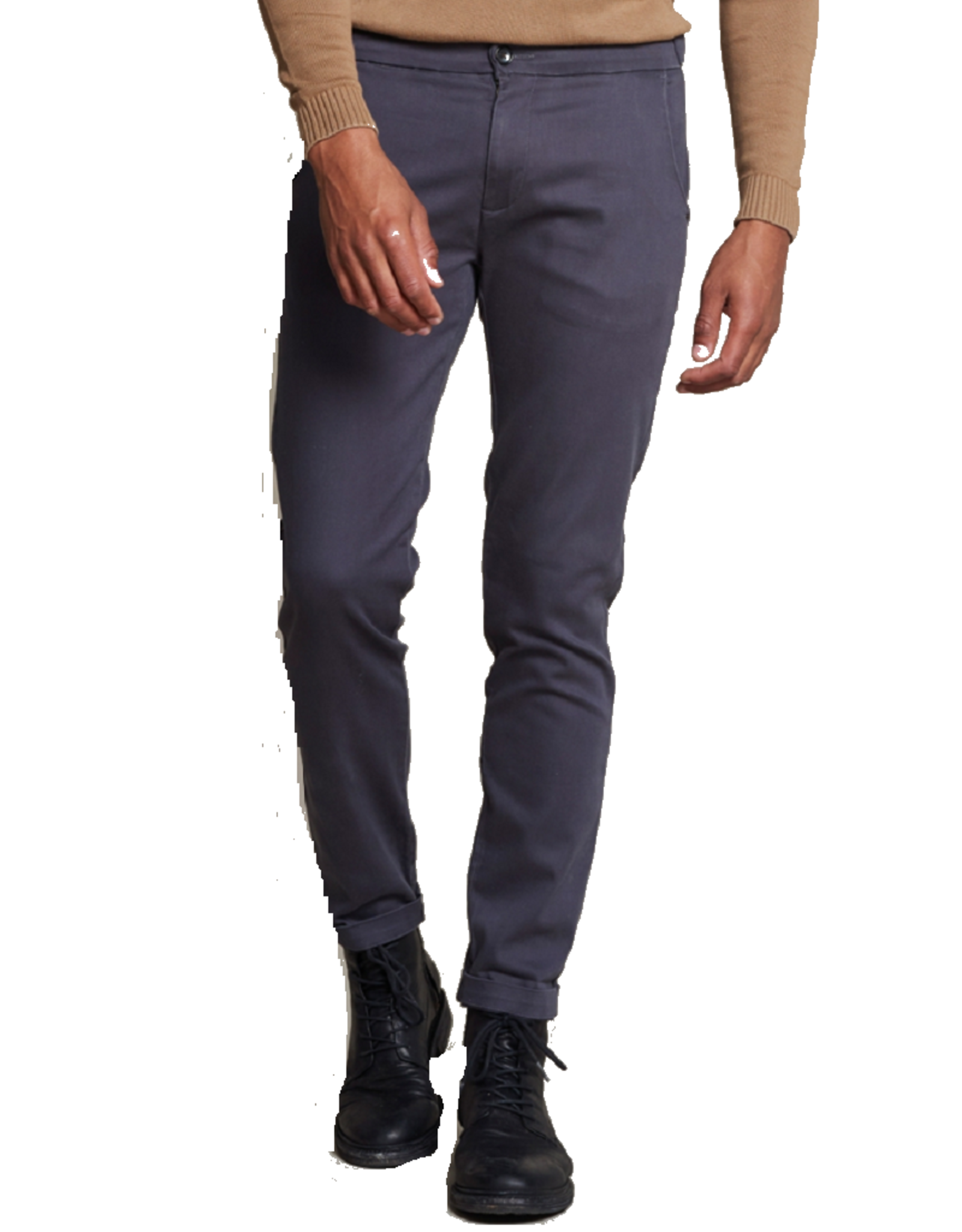 Dstrezzed Dstrezzed Lancaster Chino Pants With Straps Peach Flex Twill Anthra