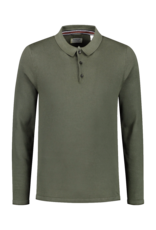 Dstrezzed Dstrezzed Polo Cotton Knit Pigment Dark Army
