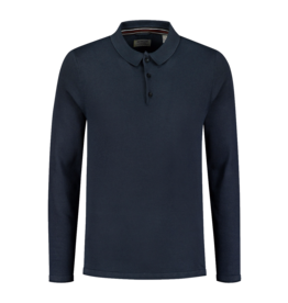 Dstrezzed Dstrezzed Polo Cotton Knit Pigment Steel Blue