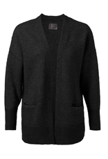 YAYA Yaya Cardigan with pockets Black