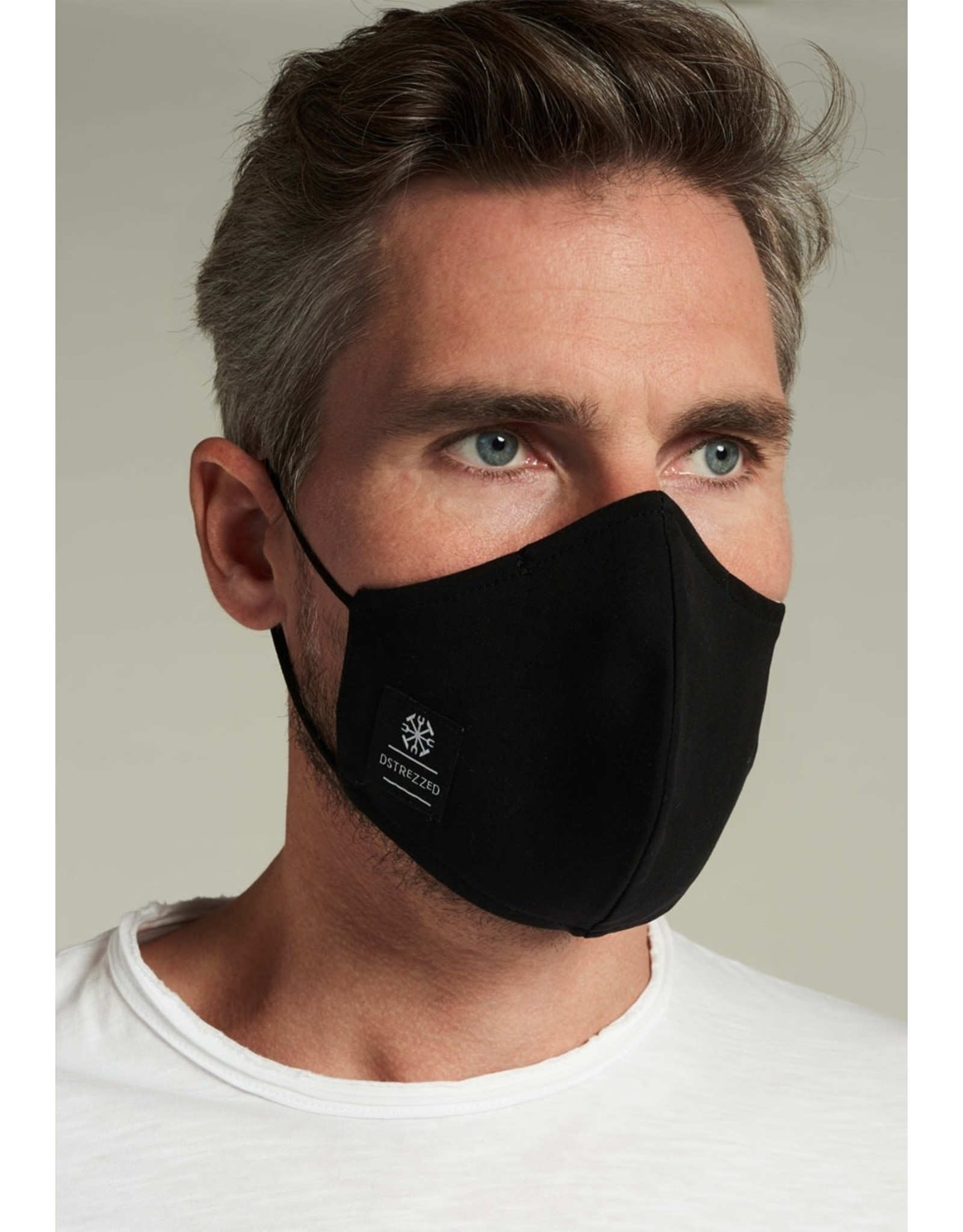 Dstrezzed Dstrezzed 1-pack fashion mondkapje zwart (mét filter)