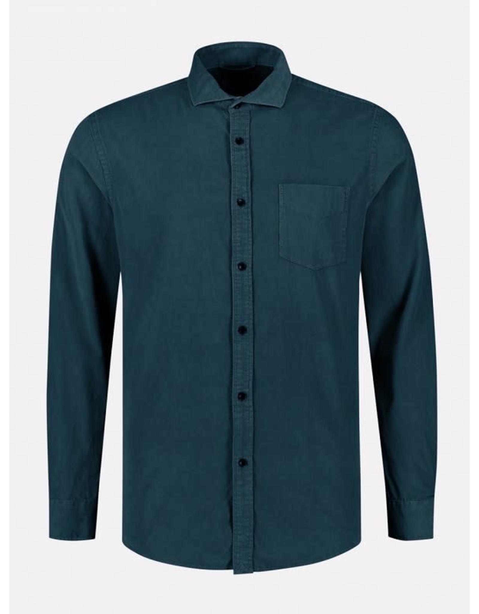 Dstrezzed Dstrezzed baby cord overhemd blauw