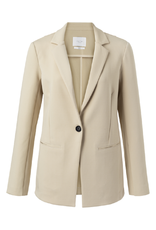 Yaya YAYA jersey tailored blazer Pale Khaki