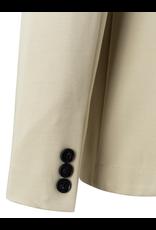 YAYA YAYA jersey tailored blazer Pale Khaki