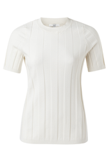 YAYA YAYA Wide rib sweater off white