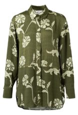 Yaya YAYA Printed fabric mix blouse Lauren Dessin