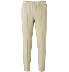 YAYA YAYA Jersey tailored trousers Pale Khaki