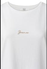 YAYA YAYA Jersey tee story embroidery dreamer off white