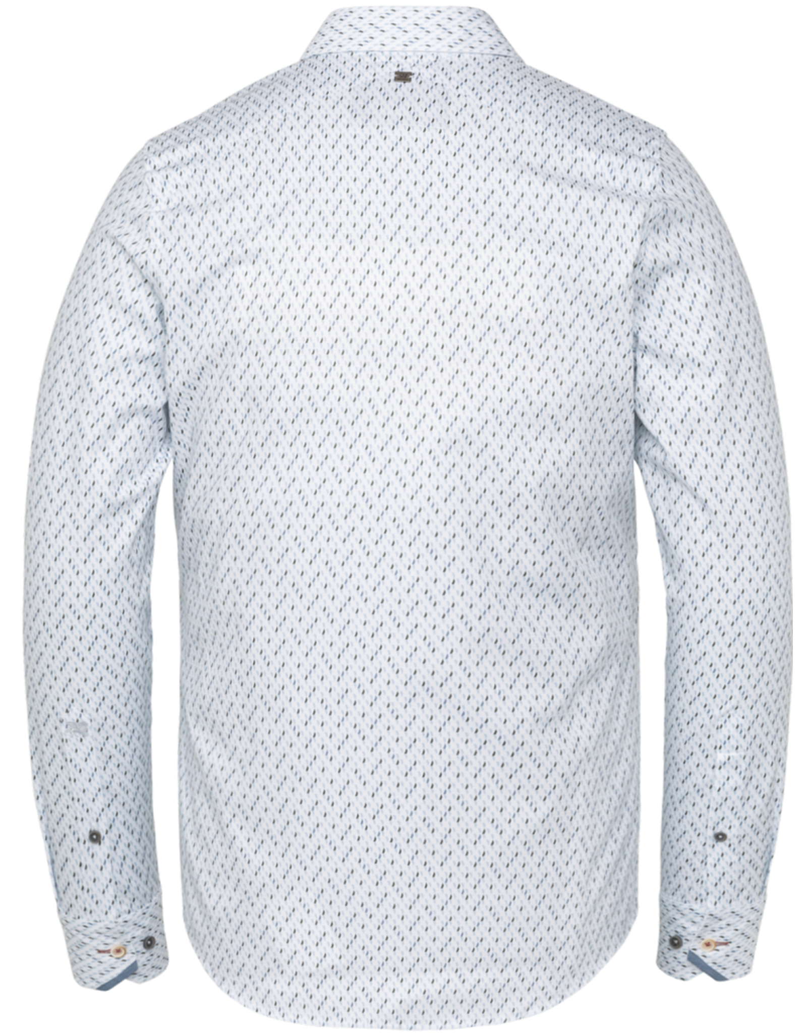 Vanguard Vanguard long sleeves structure fabric small print bright white