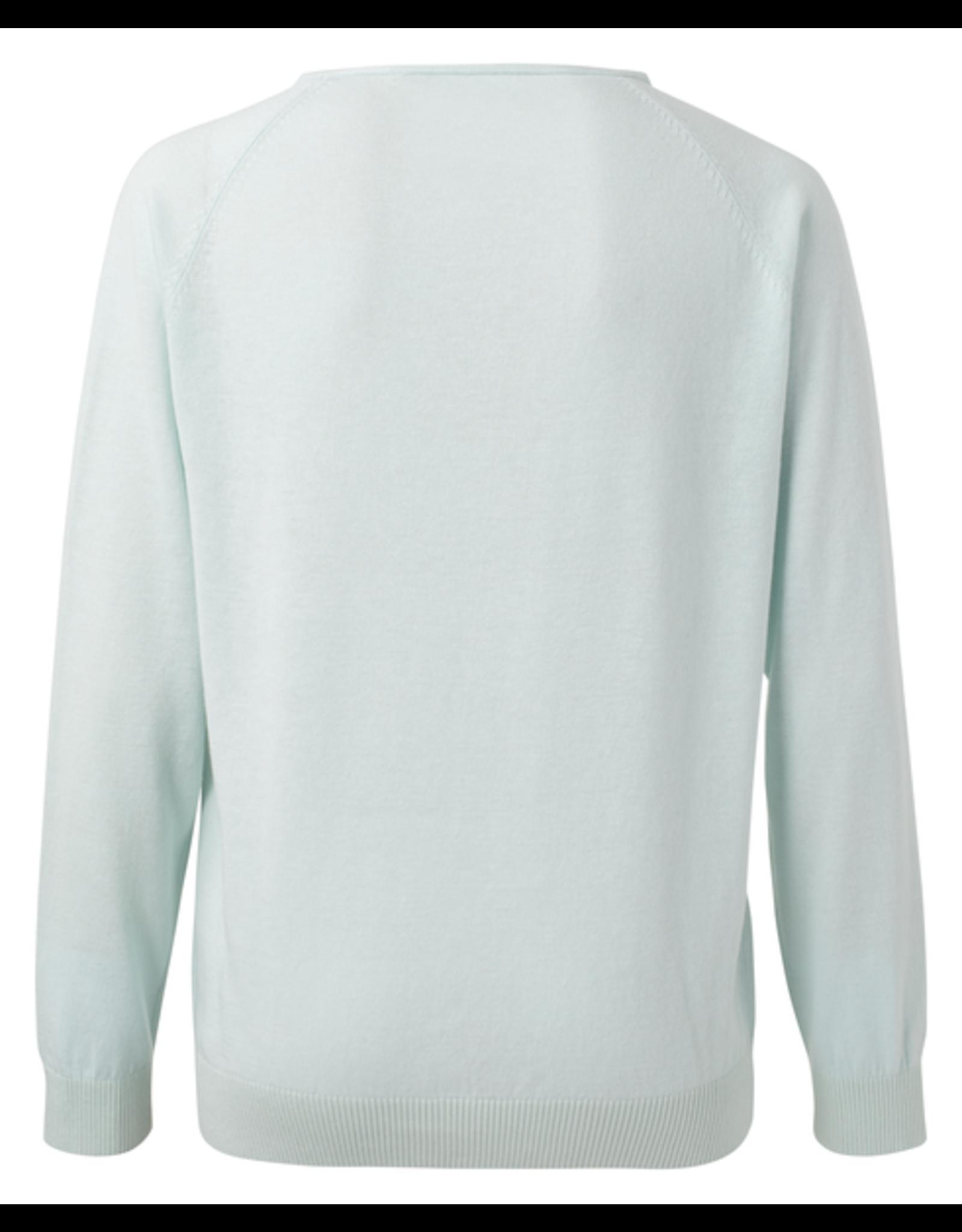YAYA YAYA basic V-neck sweater Ice
