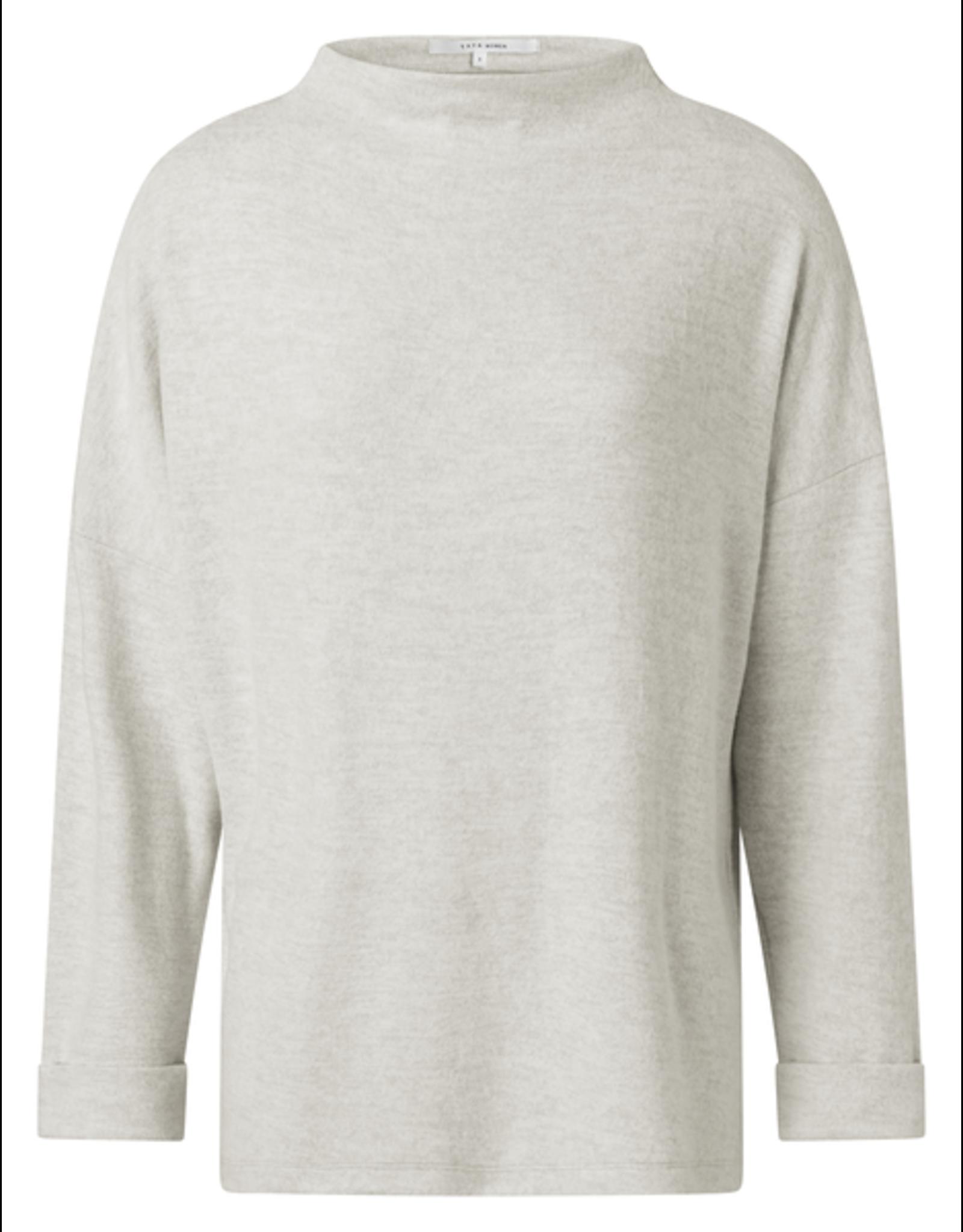 YAYA YAYA Brushed boatneck sweater off white