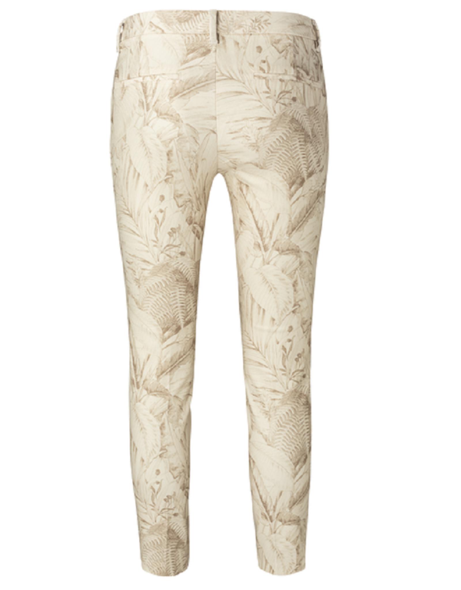 YAYA YAYA stretch printed trousers Oat dessin