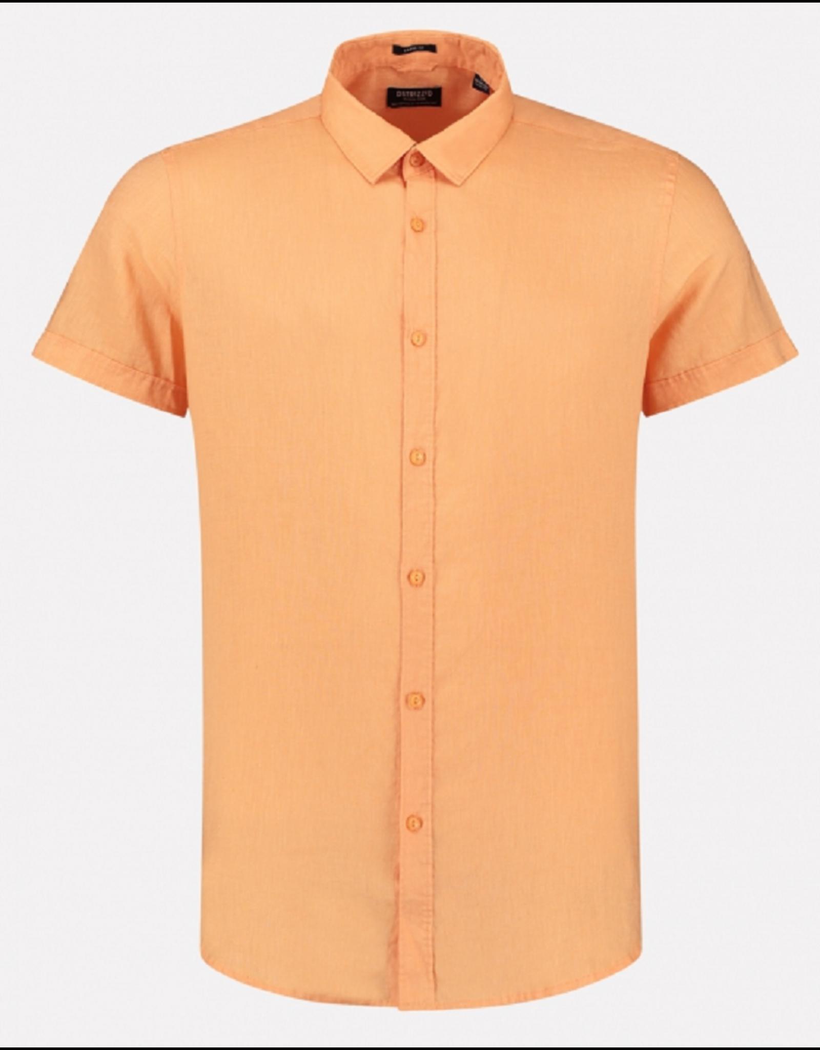 Dstrezzed Dstrezzed Shirt regular collar Linen Pumpkin