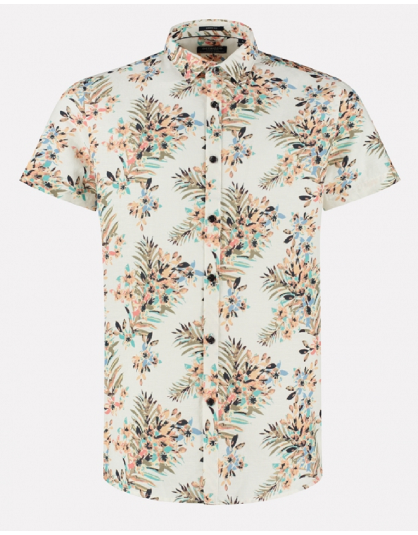 Dstrezzed Dstrezzed Shirt regular collar Painted Flower White