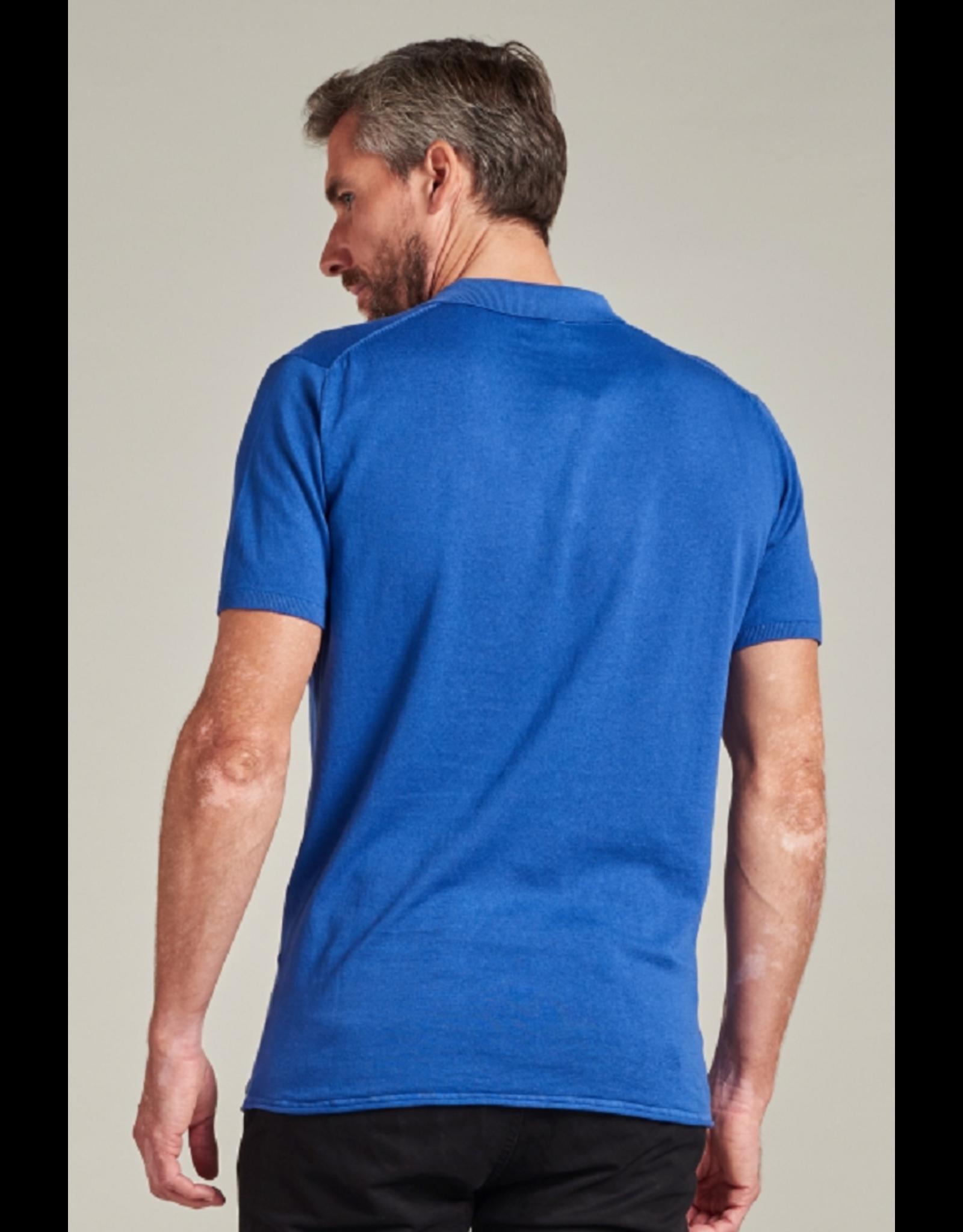 Dstrezed Polo ss Cotton Pigment Knit Kobalt