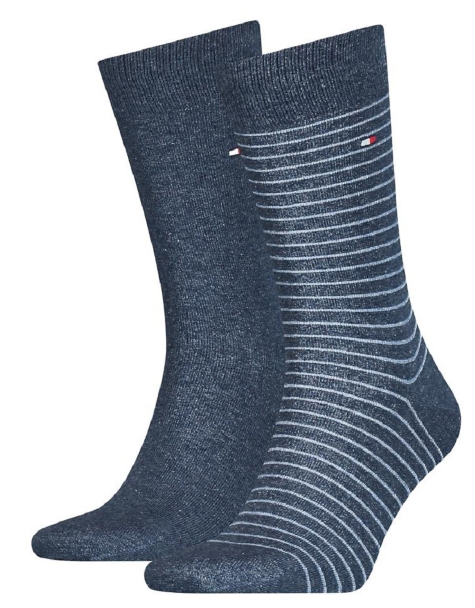 Tommy Hilfiger Tommy Hilfiger Small Stripe Sokken 2pack jeans blauw