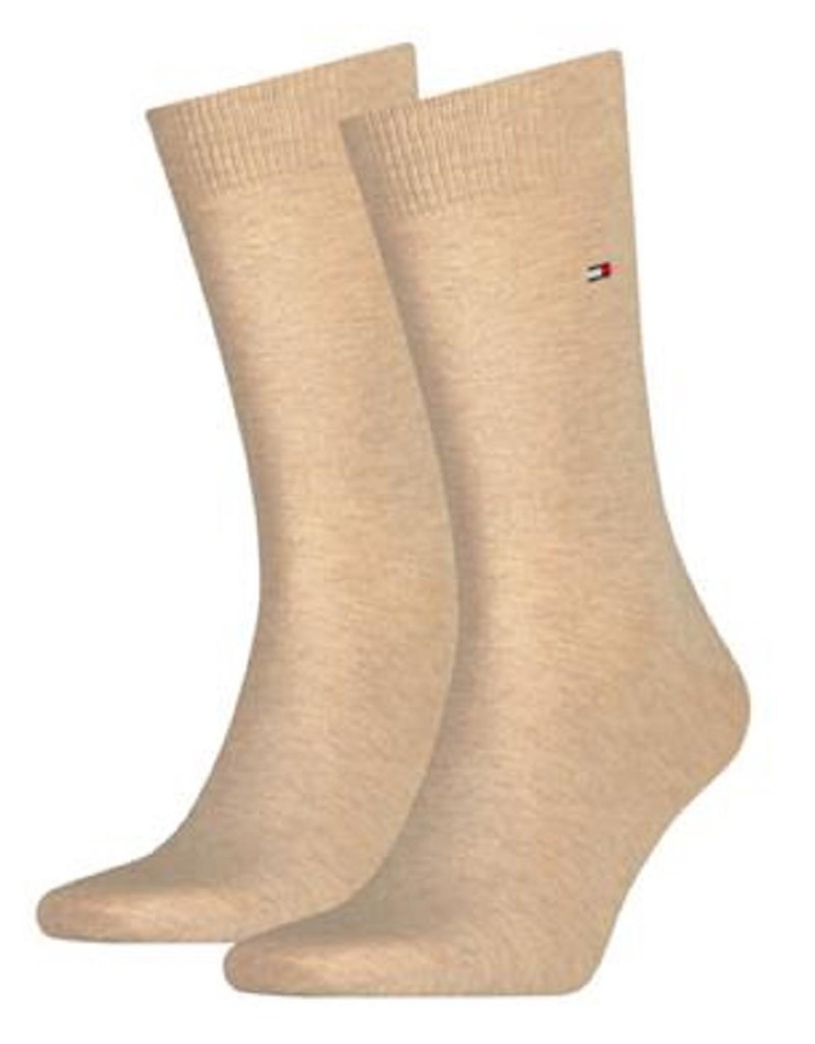 Tommy Hilfiger Tommy Hilfiger 2pack sokken Light beige melange